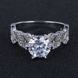 Jewelry - 1.5 carat zircon vintage 925 sterling silver ring